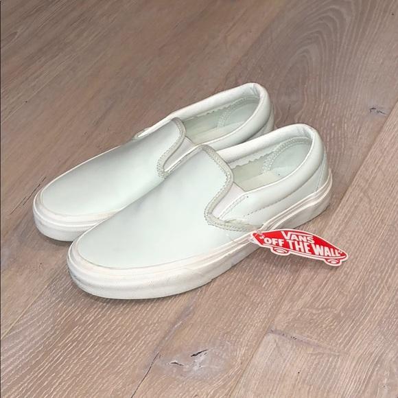 Vans Shoes   Mint Green Vans Slipons